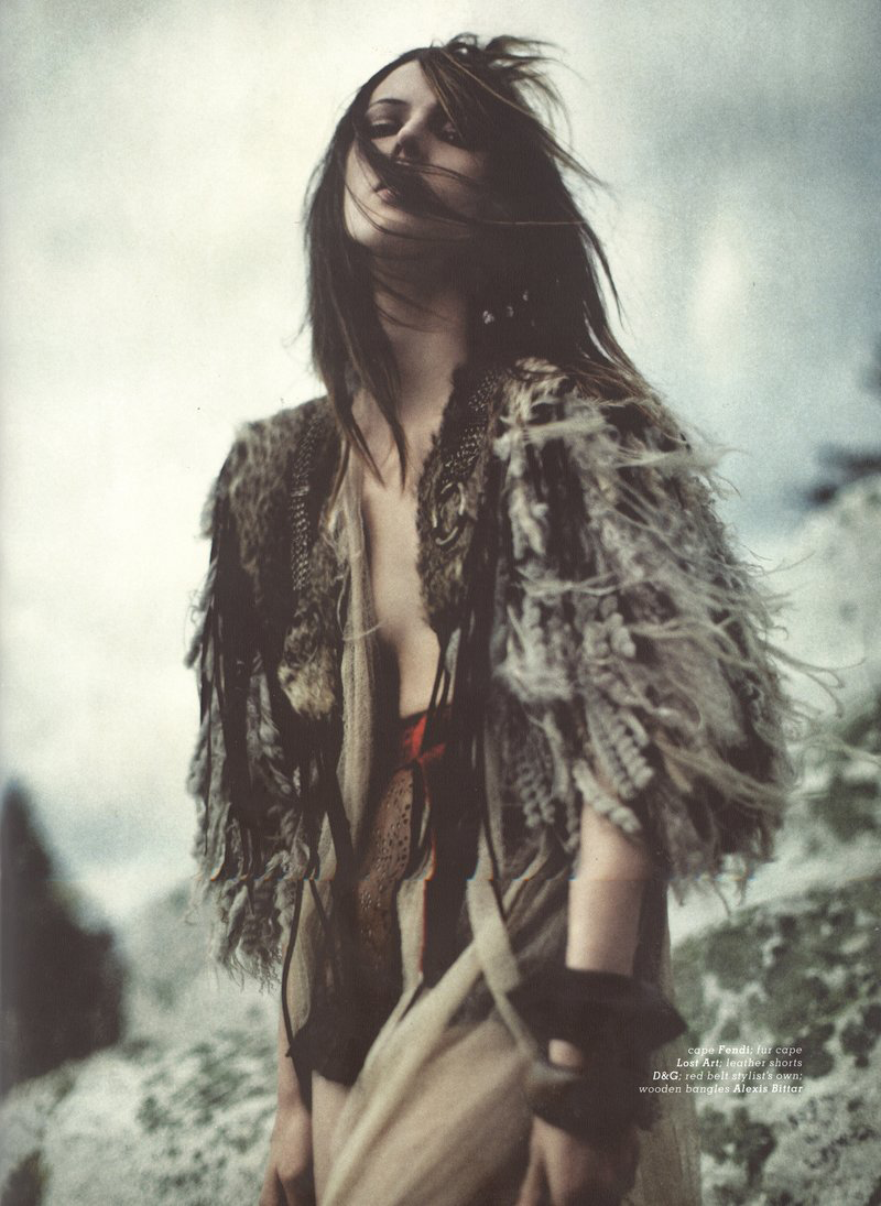 wild fire editorial, Ruby Aldridge for Muse magazine