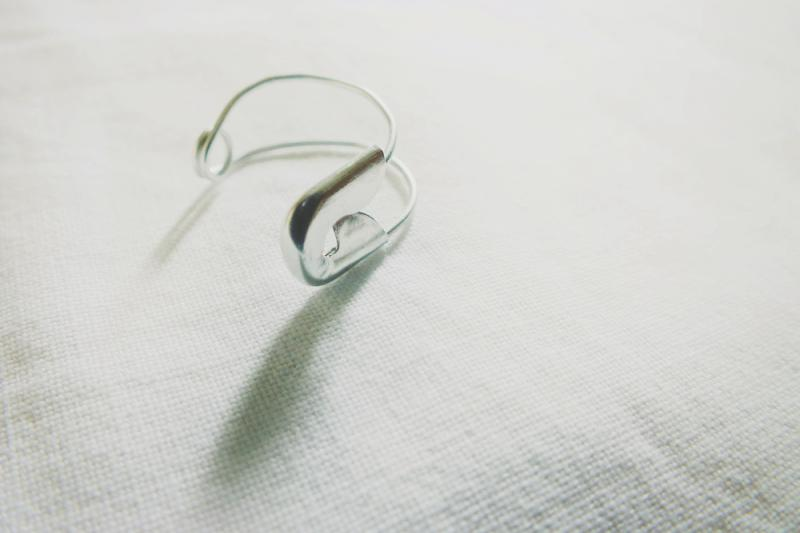 diy safety pin ring,
