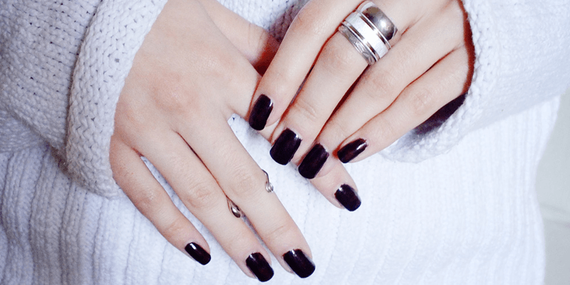 burgundy nails, ox blood trend, nail trends 2013, minimal style fashion