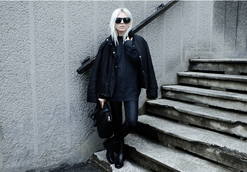 all black outfit, minimal style fashion, minimal fashion blogs, moiminnie, milica obradovic