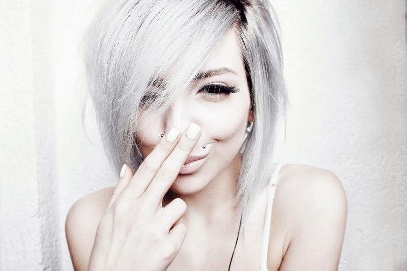 moiminnie, milica obradovic, silver hair, how to be yourself