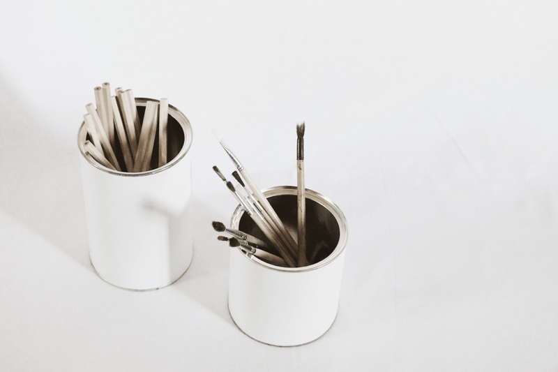 diy pencil holders, makeup brush holder, minimal style fashion, minimal fashion blogs