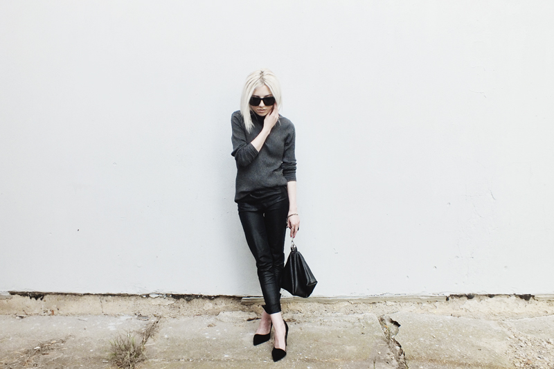 black outfit, moiminnie, milica obradovic, minimal style, minimal fashion blogs