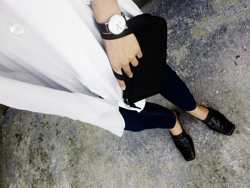 outfit from above, minimal fashion, moiminnie, milica obradovic, fashion blog, daniel wellington watch