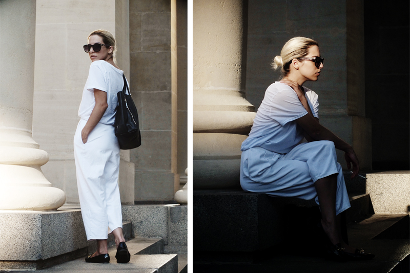white outfit, french style, minimal fashion, moiminnie, milica obradovic