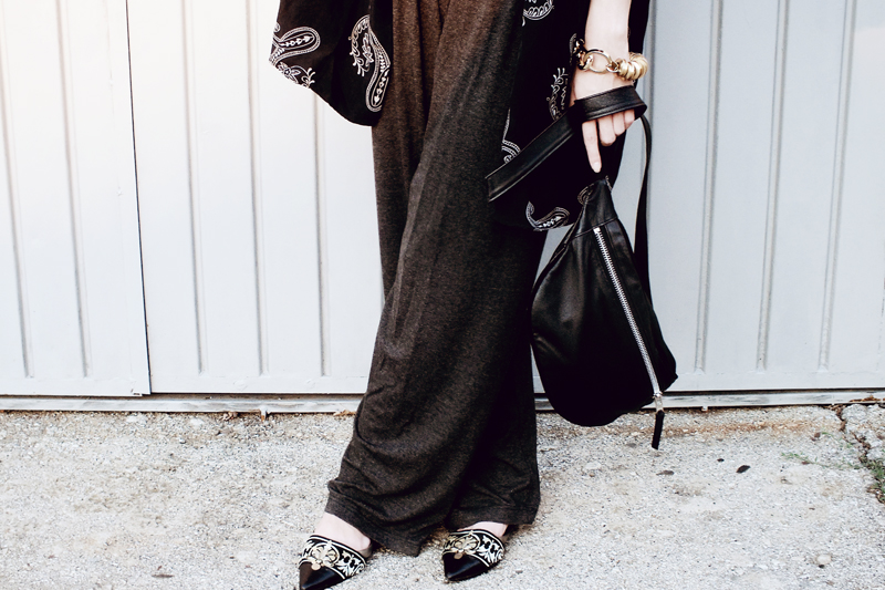 how to wear a kimono, kimono outfits, styling a kimono, how to style a kimono, moiminnie, milica obradovic, diy embellished slippers
