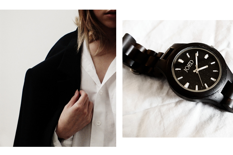 how to wear your boyfriend's clothes, wearing boyfriend clothes, jord watches, wooden watches, moiminnie, milica obradovic, minimal style fashion