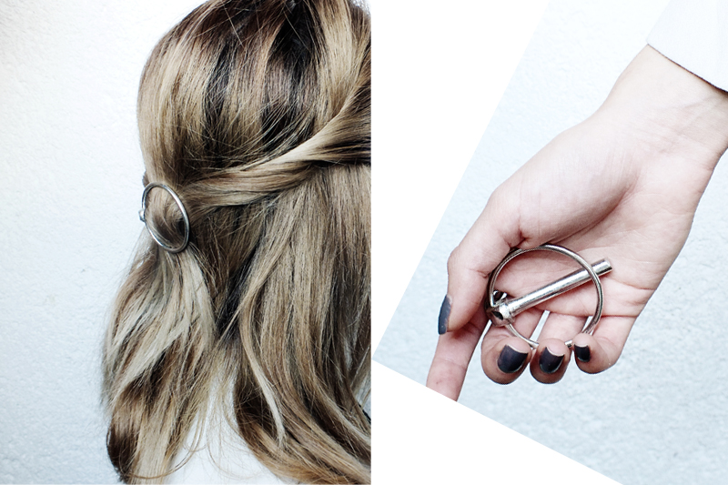 diy celine hairclip, minimal hair accessories, moiminnie, milica obradovic, minimal style blog